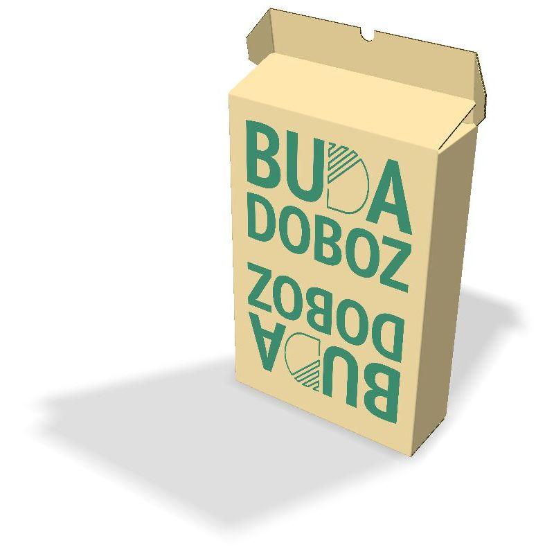 Kartondoboz felirattal